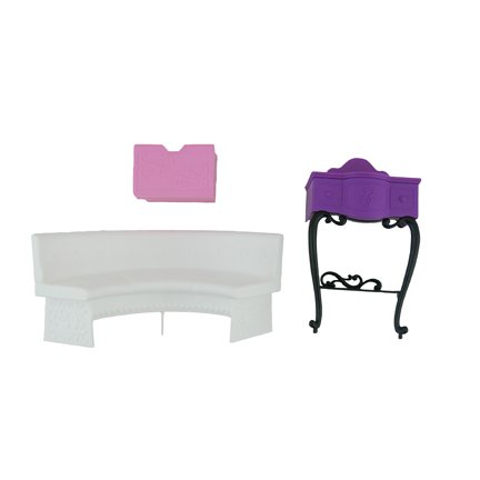Barbie Malibu Dreamhouse - Replacement Parts / Furniture: Couch / Sofa, Vanity