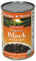 Westbrae Natural Organic Black Beans -- 25 oz - 2 pc