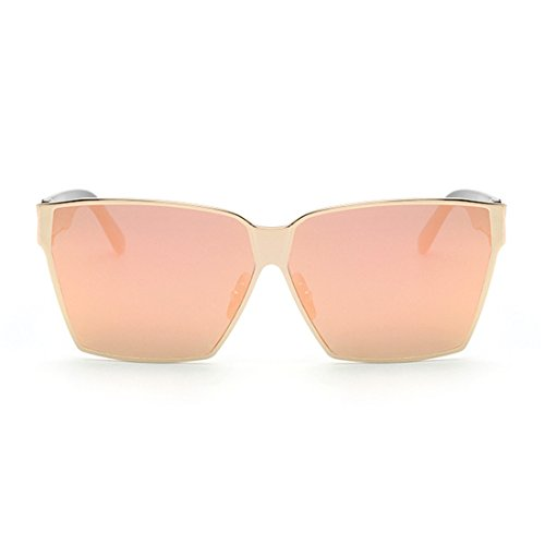 LOMEDO Fashion Square Classic Sunglasses for Womens and Mens Flash Mirror - Men Sunglasses Costco