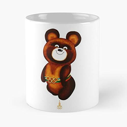 Misha Olimpic Emblem 1980 - Funny Coffee Mug, Gag Gift Poop Fun Mugs