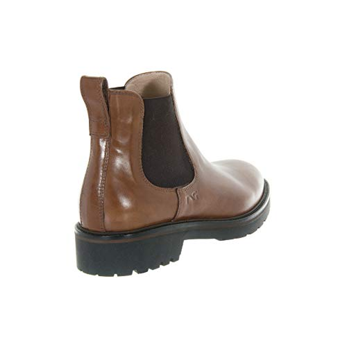 A806364d400 Elastico Donna Cuoio Nero Beatles Giardini Scarpe In Pelle qECY80