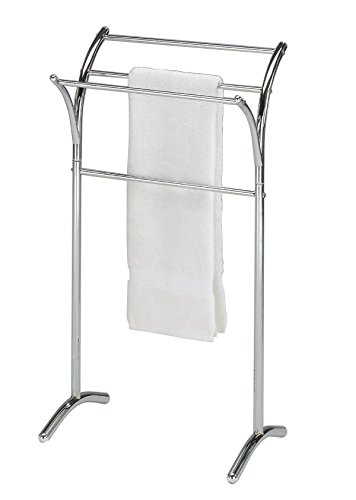 Chrome Finish Towel Rack Bathroom Stand Shelf by eHomeProducts