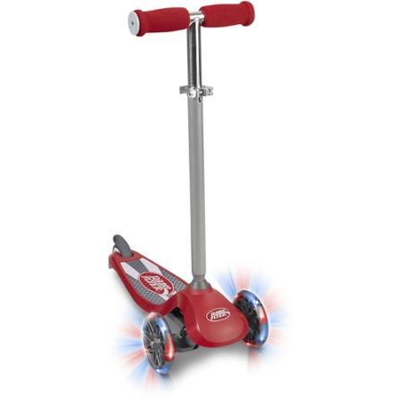 Radio Flyer Lean 'N Glide with Light-Up 3-Wheels, Fast, Smooth Ride, Heavy-duty Deck, Lean-to-steer Technology, Durable, Safe, Kids Scooter- (Fast Radio)