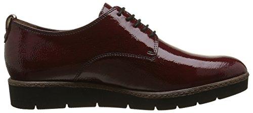 Tamaris 23312, Zapatos de Cordones Oxford para Mujer Rojo (BORDEAUX 549)