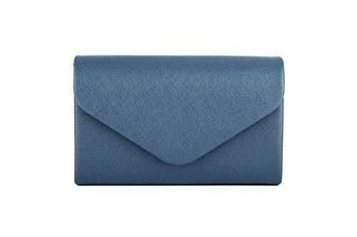 Girls Handbag Purse (Nodykka Purses and Handbags Evening Envelope Crossbody Bags Party Bridal Clutch Purse Shoulder Bags for Women(Navy-PU))