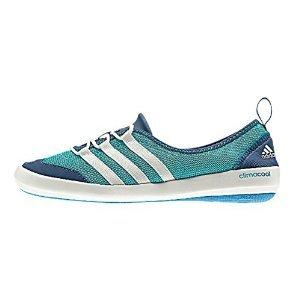 adidas Outdoor Climacool Boat Sleek Shoe - Women's Vivid Mint/Chalk White/Vista Blue 10