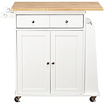 Kitchen Cart Rolling Island Storage Unit Cabinet Utility Portable Home Microwave