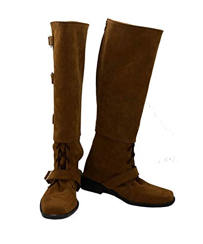 Allten Womens Dr River Song Brown Flat Boots Shoes Cosplay Costume (8 M US -
