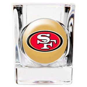 Square Shot Glass - Great American 8900675292 2 oz. San Francisco 49ers Square Shot Glass