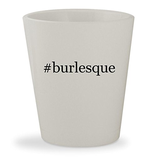#burlesque - White Hashtag Ceramic 1.5oz Shot (Burlesque Christina Costumes)