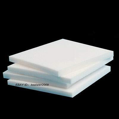 FidgetKute 200x200x20mm Virgin Teflon PTFE Sheet White Plastic Panel Natural Engineering F4