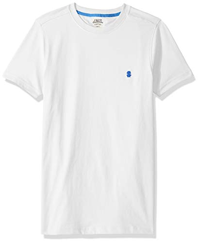 IZOD Men's Slim Fit Saltwater Short Sleeve Solid T-Shirt with Pocket, Bright White, Medium ()