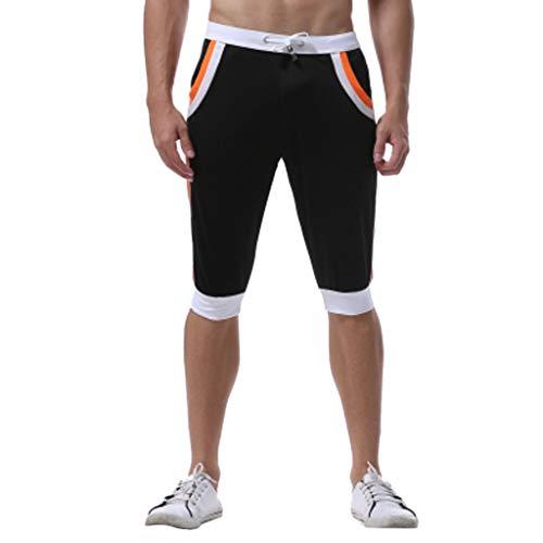 Jogging Pantaloncini Casual Estivi Nero Corti Uomo Amlaiworld Sportivi qS8fpp
