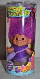 Good Luck Troll with Message - Purple - 3 Inches Tall