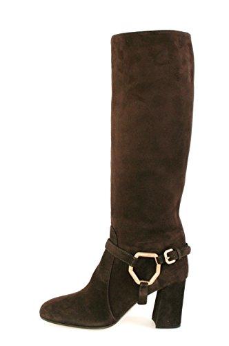 (Prada Women's 1W415D Brown Leather Boots EU 38.5 / US 8.5)