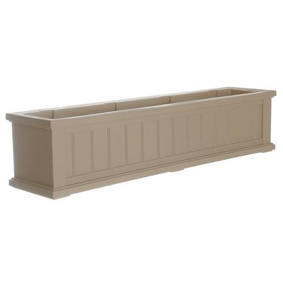 Cape Cod Rectangular Window Box Size: 48'', Color: Clay by Mayne Inc.