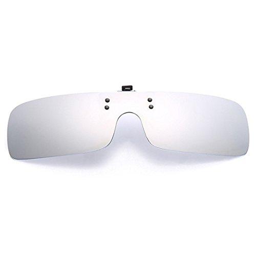 en Clip de sol Hombres gafas gafas gafas de sol Flip Huicai de Blanco UV400 de visión polarizadas Mujeres Retro gafas día nocturna Up miopía vzHqvpZaw1