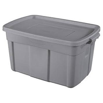 Amazon.com: Rubbermaid Steel Storage Tote, 31 Gallon, Grey (FG2244CPSTEEL):  Home U0026 Kitchen