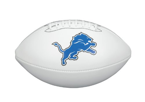 NFL Team Logo Autograph Football Detroit Lions Detroit Lions Team Logo Ball