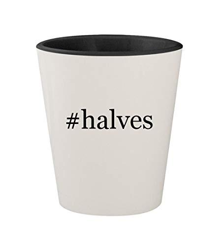 #halves - Ceramic Hashtag White Outer & Black Inner 1.5oz Shot Glass