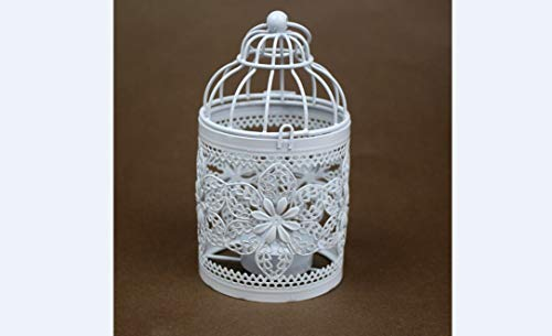 Hollow Out Hanging Bird Cage Candle Holder Candlestick Lantern Classic Wedding Party Decor - Candle Holders