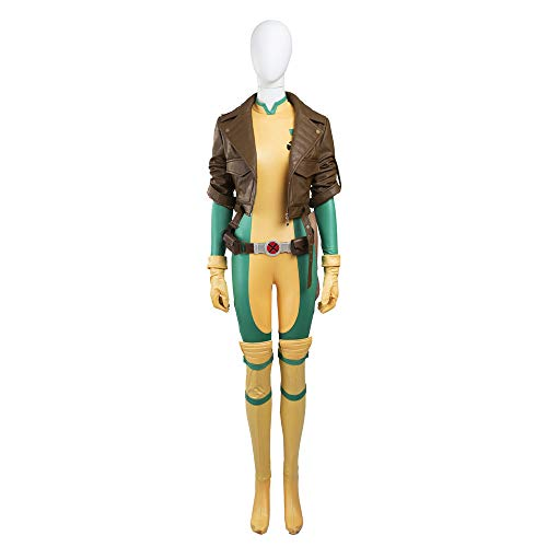 COSSHOW Hot Cakes Original X-Men Rogue Cosplay Costume Jumpsuit Custom Size (XL) -