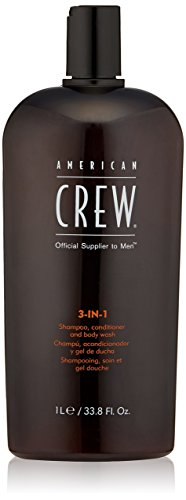 American Crew Men Classic 3 In 1 Shampoo Conditioner Body Wash, 33.8 Ounce