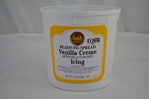 Gold Medal Vanilla Creme Ready To Serve Icing 2 Case 11 Pound by General Mills
