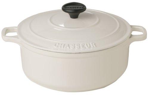 Chasseur-Cocotte ronde en fonte-Blanc arctique - 22 cm/3 l