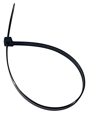 "Cambridge 100pcs- 14"" 120 Lbs Tensile Strength, Heavy Duty Nylon Cable Ties, UV Black"