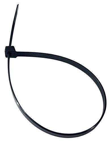Cambridge Multi Purpose Cable Ties Zip Ties 14 Inch 120 Lb 100 Pack Heavy Duty UV Black ()