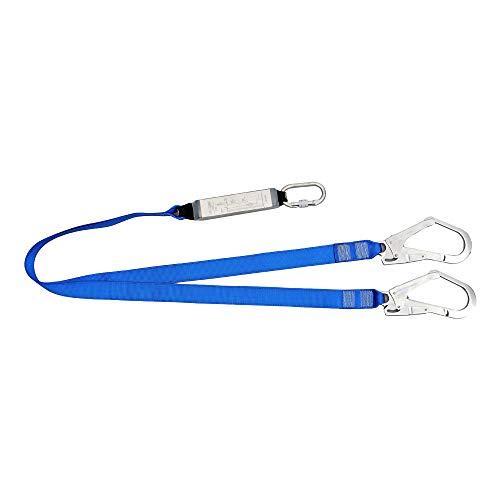 - Double Lanyard - JECH Twin-Leg web Lanyard,Polyester Web Lanyard,outdoor Safety Rope Seat Belt,Blue