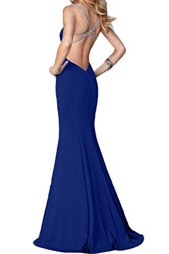 Damen Linie Liebling Festkleid Etui Ivydressing Abendkleid Trager Promkleid Rueckenfrei Mit Partykleid Royalblau Steine 1dgnwdFqR