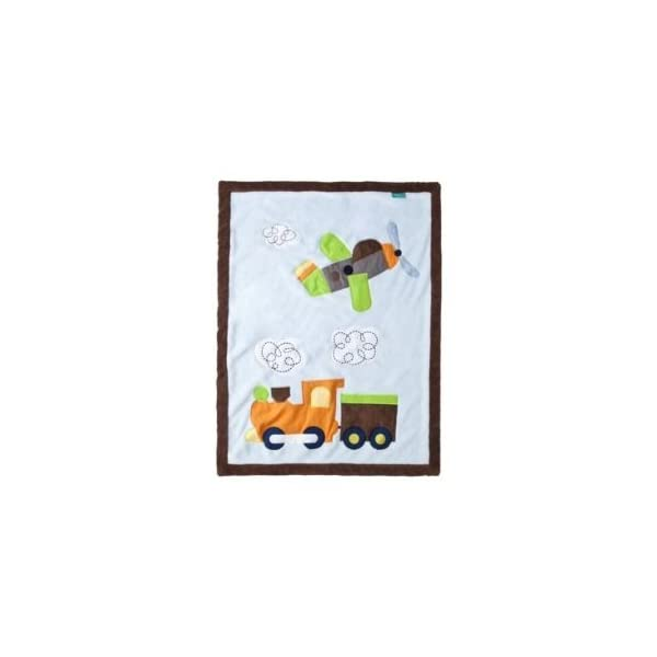 Tiddliwinks Come Ride with Me Jumbo Applique Baby Blanket – 30″ X 40″