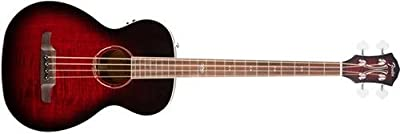 Fender T-Bucket 300 Acoustic Electric Bass Guitar, Rosewood Fingerboard - Trans Cherry Burst by Fender Musical Instruments Corp.