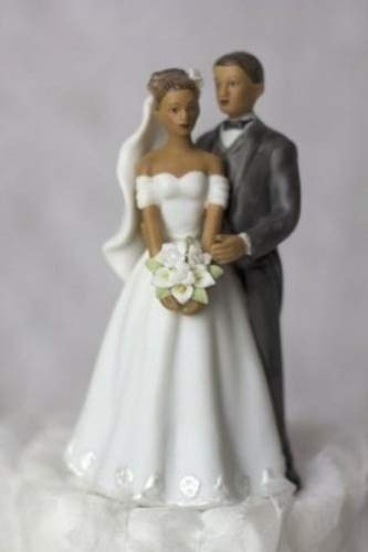 Wedding Collectibles Elegant African American Couple Small Wedding Cake Topper (Cake Wedding African American Topper)
