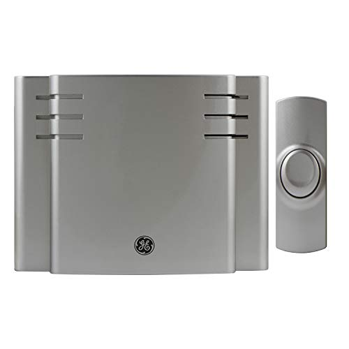 GE 19303 RA26567 Battery-Operated Wireless Door Chime, 8 Melodies Satin Nickel]()