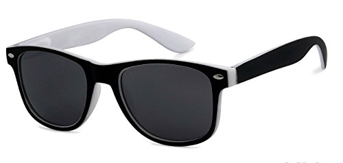 WebDeals - Kids Childrens 80's Classic Retro Sunglasses - Variety of styles and colors (Two Tone, ()