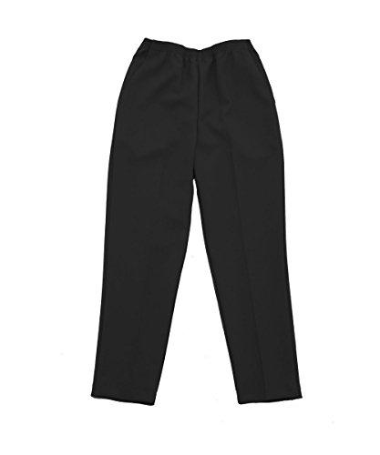 Pocket Elastic Two Waist (Silvert's Womens Elastic Waist Two Pocket Pants - Black 16)