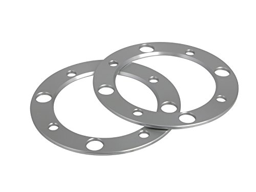 RockTrix for Precision European - 2pc 5mm (3/16'') Thick 4x156 ATV Wheel Spacers for many Polaris & Kawasaki: Outlaw (Front Only) Predator Ranger RZR Sportsman XP Lakota Mojave Tecate (4/156) Silver by RockTrix