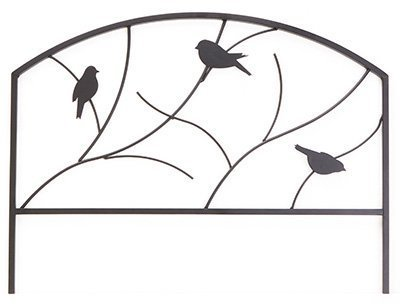 Panacea Products Corp-Import 84565 Garden Edging, Perching Birds Design, Black Steel, 18 x 24-In. - Quantity 12 by Panacea Products by Panacea Products