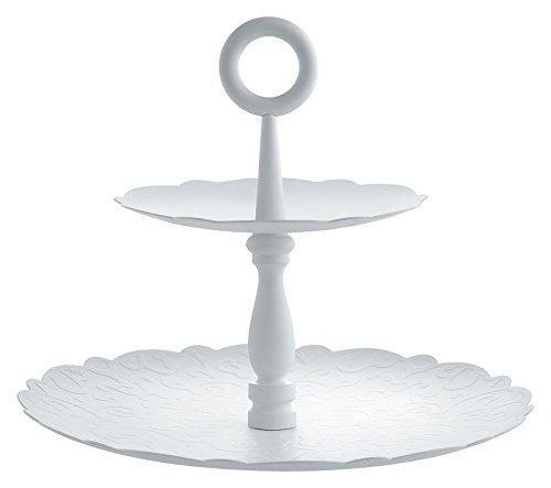 Alessi MW52/2 W Dressed X-Mas,Two-Dish Stand W X, White