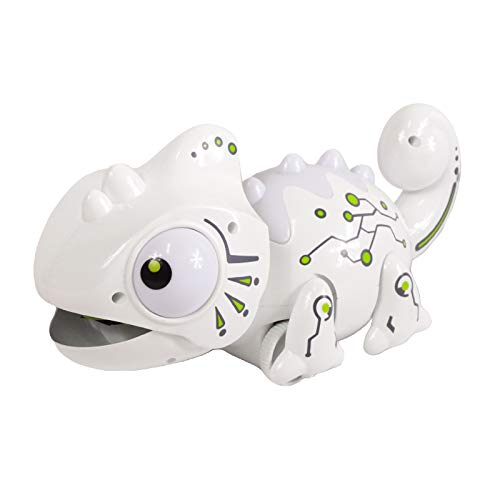 Scale Sports RC Chameleon Toy Multi Colored Lights Extendable Tongue Bug Catching Action Multi-Directional Remote Control Animated Eyes and Tail
