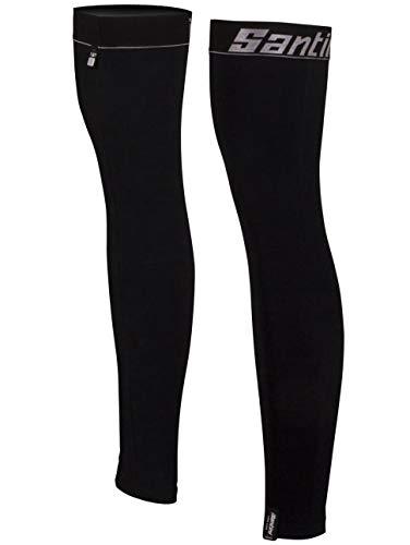 (Santini Black 365 H20 Nuhot Leg Warmers - Pair (Xs/S, Black))