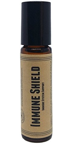 Immune Shield Pre-Diluted Essential Oil Roll-On Blend 10ml (1/3oz) | Flu, Viruses, Colds, Antiseptic, Improved Thieves Formula