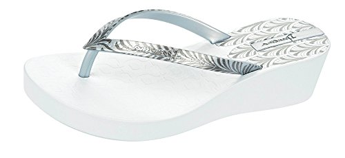 Tirón White Deco de Mujer la Ipanema Sandalias Silver Platform Flops 68qwFxE