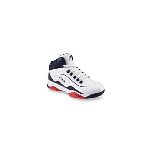 Fila Men's Entrapment Basketball Sneakers, White Synthetic, 10.5 M