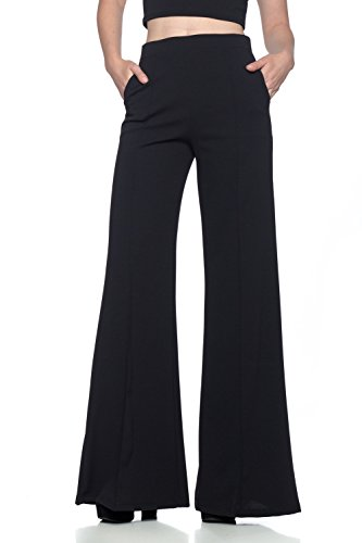 Women's J2 Love Flowing Palazzo Pants, Large, Black