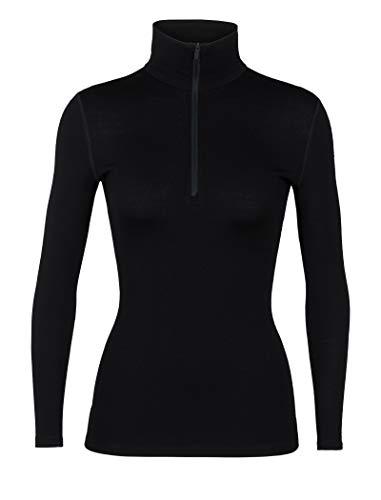 Icebreaker Merino Women's 260 Tech Long Sleeve Half Zip Jacket, Black, Small
