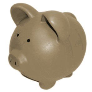 Brown camouflage ceramic piggy bank 10 inch home kitchen - Extra large ceramic piggy bank ...